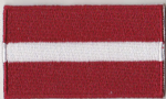 Latvia Embroidered Flag Patch, style 04.
